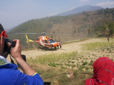 Nepal helicopter trekking tour