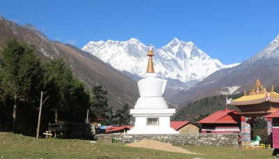 View From Tengboche Monastery, Luxury Everest Base Camp Trek