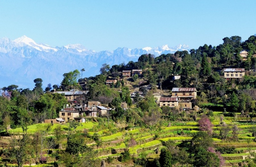 Changunarayan-with views of Sankhu village Shivapuri Nagarkot Trek